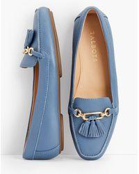 Talbots Becca Tassel Driving Moccasins - Blue