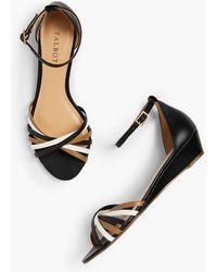 Talbots - Capri Twist-strap Wedge Sandals - Lyst