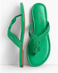 Talbots - Cece Braided Thong Sandals - Faux Nappa - Lyst