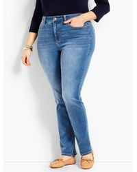 ecad25052d1 Talbots - Plus Size Exclusive Comfort Stretch High-rise Straight-leg Jeans  - Lyst