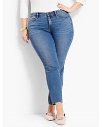 Talbots - Woman Exclusive Luxe Stretch Denim Slim Ankle - Curvy Fit/easton Wash - Lyst