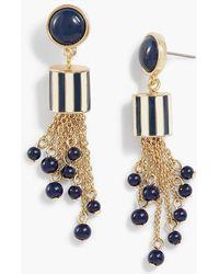 Talbots - Striped-bead Tassel Earrings - Lyst