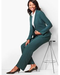 Talbots - Refined Crepe Wide-leg Trousers - Lyst