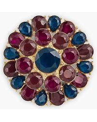 Talbots - Colorful Crystal Brooch - Lyst