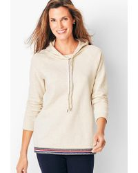 Talbots - Textured Jacquard Hooded Top - Lyst