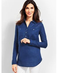 Talbots - Linen Camp Shirt - Piece-dyed - Lyst