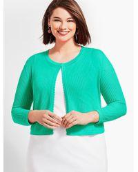 Talbots - Plus Size Exclusive Open-stitch Dress Shrug - Lyst