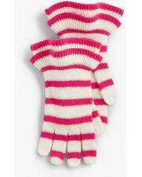 Talbots - Sparkle Stripe Gloves - Lyst