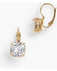 Talbots - Crystal Leverback Earrings - Lyst