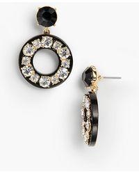 Talbots - Crystal Circle Drop Earrings - Lyst