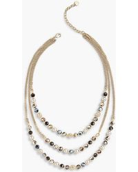 Talbots - Layered Beads Necklace - Lyst