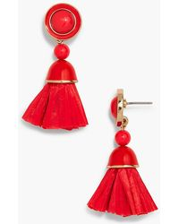 Talbots - Mixed Media Tassel Earrings - Lyst