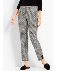 Talbots - Gingham Polka-dot Ankle Pant - Curvy Fit - Lyst