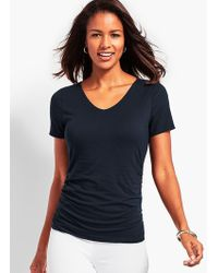 Talbots - Fairleigh Ruched V-neck Tee - Lyst