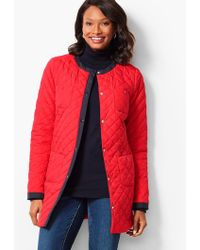 Talbots - Collarless Quilted Jacket - Lyst