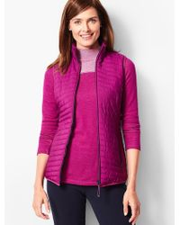 Talbots - Quilted Vest - Lyst