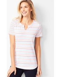 055b19149 Old Navy Luxe Curved-hem V-neck Tee in Red - Lyst
