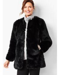 Talbots - Faux Fur Coat - Lyst