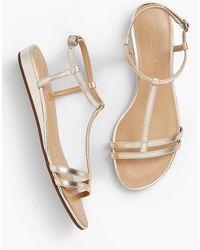 Talbots - Daisy Micro-wedge Sandals - Metallic - Lyst