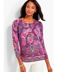 Talbots - Vineyard Paisley Cashmere Sweater - Lyst