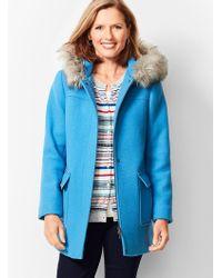 Talbots - Fur-trim Hooded Jacket - Lyst