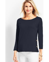 Talbots - Side-button Sweater Topper - Lyst