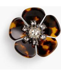Talbots - Tort Flower Brooch - Lyst