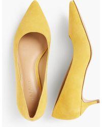 349c6d4f7a0 Lyst - Talbots Erica Kitten-heel Pump - Tortoiseshell Patent in Black