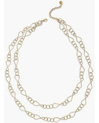 Talbots - Double Layer Necklace - Lyst