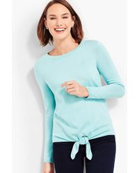Talbots - Tie-front Sweater - Lyst