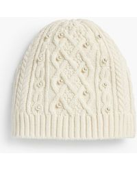 Talbots - Embellished Cable-knit Hat - Lyst