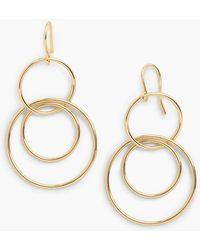 Talbots - Interlocking Hoop Drop Earrings - Lyst
