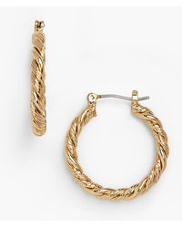Talbots - Twisted-rope Hoop Earrings - Lyst