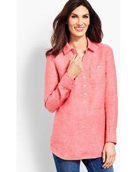 Talbots - Linen Camp Shirt - Cross-dyed - Lyst