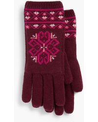 Talbots - Medallion Fair Isle Gloves - Lyst