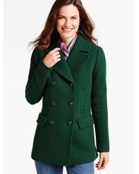 Talbots - Double-breasted Coat - Lyst