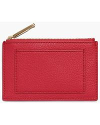 Talbots - Pebble Leather Zip Card Case - Lyst