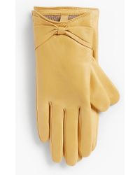 Talbots - Leather Bow Glove - Lyst