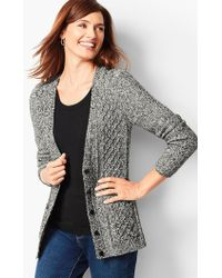 Talbots - Girlfriend Cable-knit Cardigan - Lyst