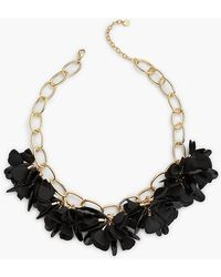 Talbots - Fabric Flower Necklace - Lyst