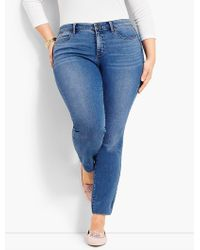 084d3d1de8f Talbots - Woman Exclusive Luxe Stretch Denim Slim Ankle - Easton Wash - Lyst