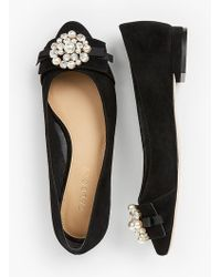 Talbots - Edison Bow-detail Flats - Embellished - Lyst