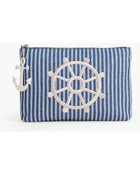 Talbots - Stripe Denim Novelty Bag - Lyst