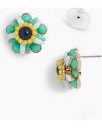 Talbots - Cabochon Flower Stud Earrings - Lyst