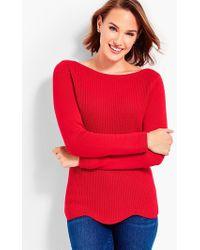 Talbots - Scallop-hem Bateau Sweater - Lyst