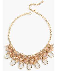 Talbots - Smooth Stone Statement Necklace - Lyst