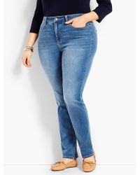 Talbots - Plus Size Exclusive Comfort Stretch High-rise Straight-leg Jeans - True Blue - Lyst