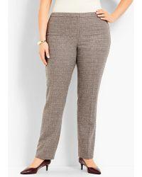 Talbots - Womans Exclusive Luxe Tweed Side-zip Slim-leg Pant - Lyst