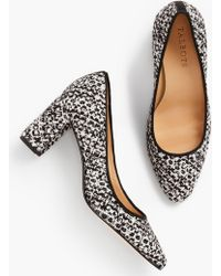 dc275fcb8 Lyst - Talbots Kelsey Block-heel Pumps-haircalf