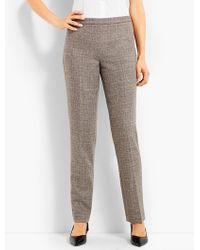 Talbots - Luxe Tweed Side-zip Slim-leg Pant - Lyst